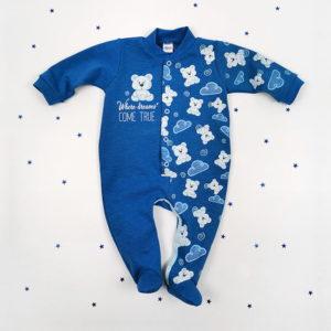 plavi kombo kombinezon za bebe