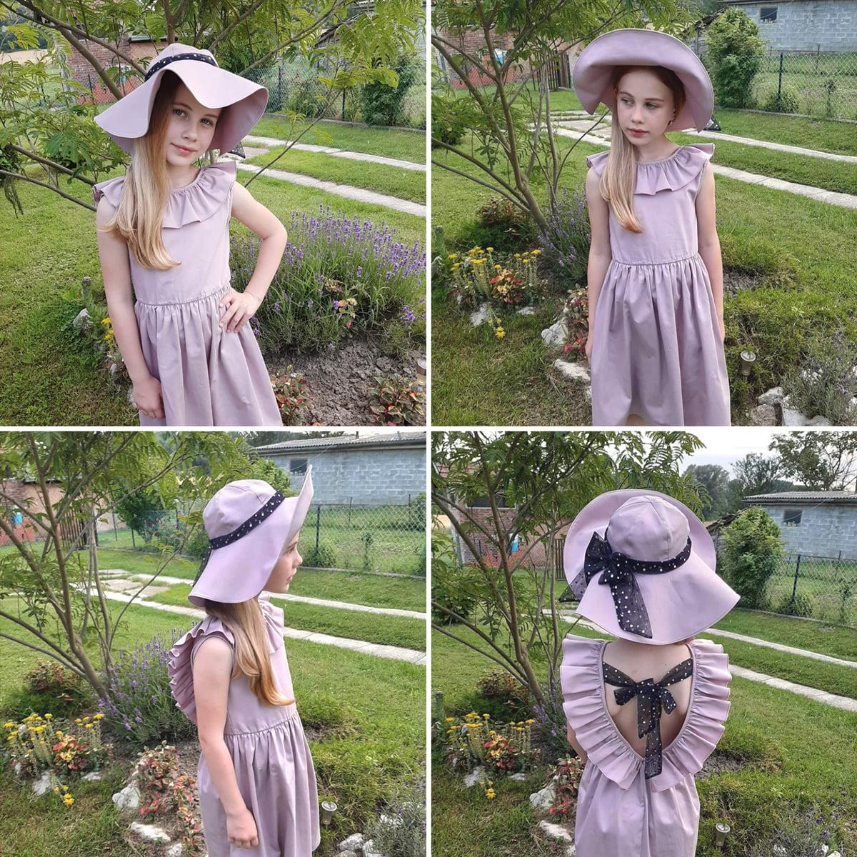 lila Anđela haljina otvorenih leđa