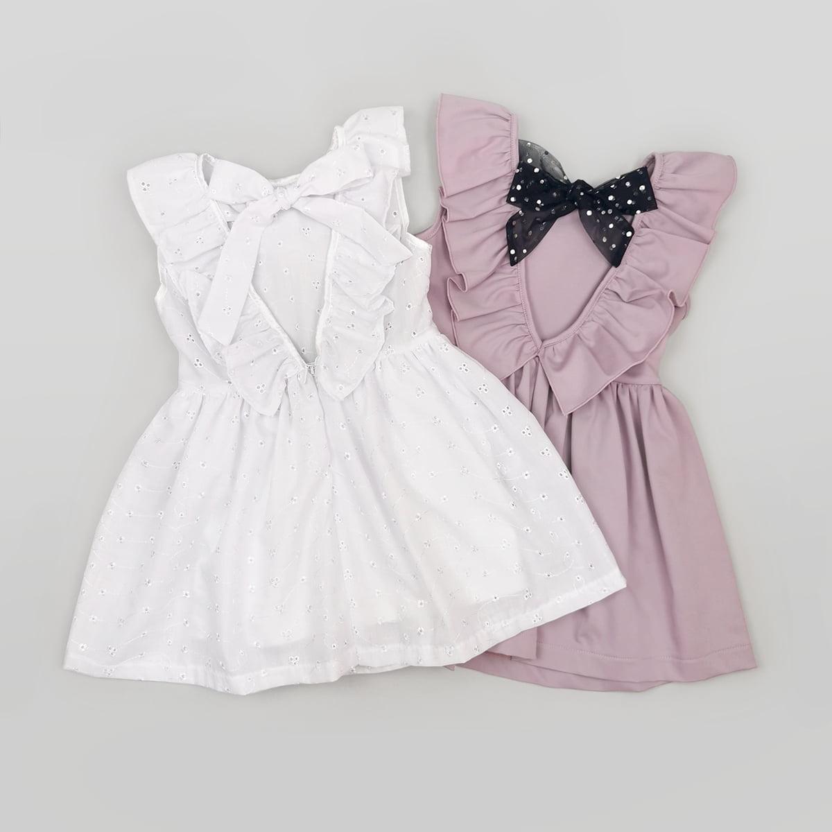 bijela i lila Anđela haljine