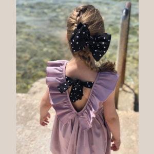 Anđela haljina otvorenih leđa lila