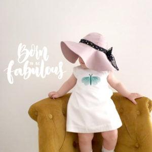 Anđela šešir širokog oboda lila