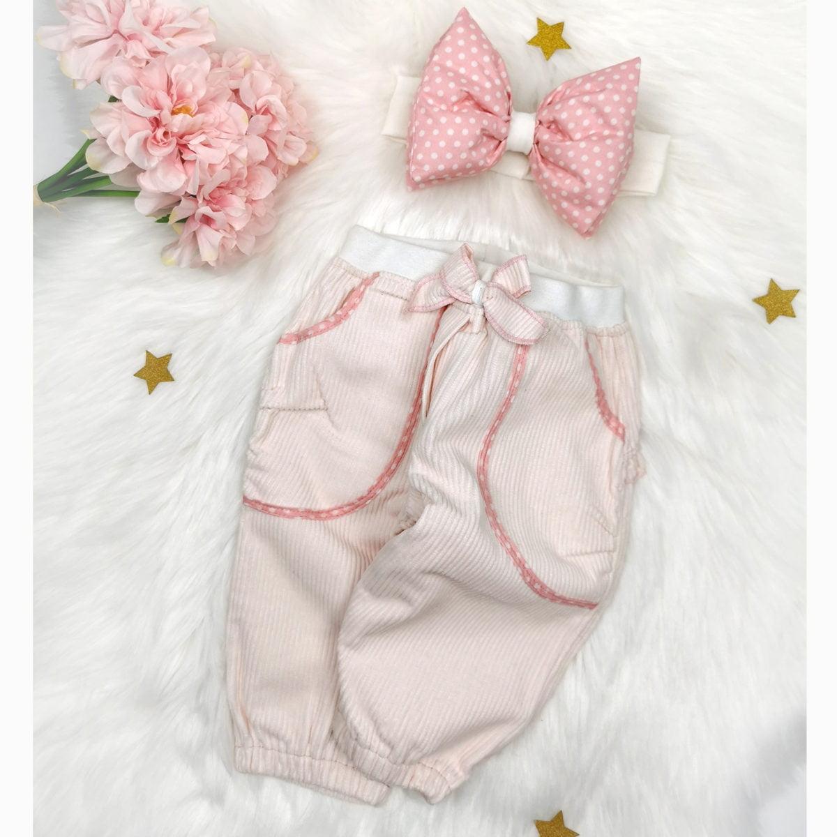 roze bagy hlače za bebe