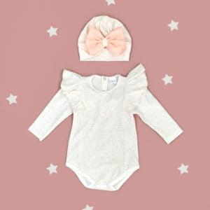 komplet za bebe bodi i turban bella daisy