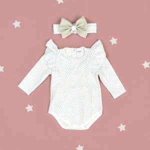 komplet za bebe bodi i trakica bella daisy