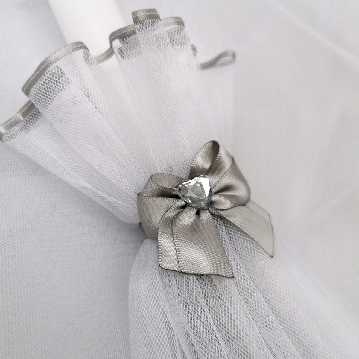 srebna boja Diamond heart svijeće za krštenje