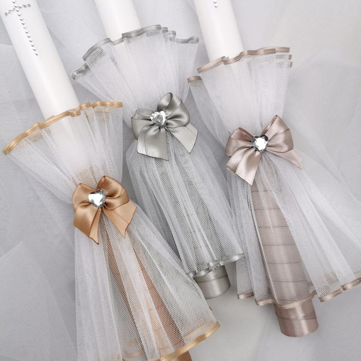 elegantne svijeće sa krštenje