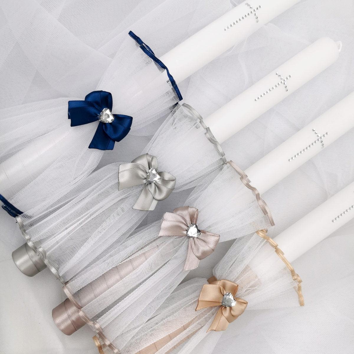 diamond heart elegantne svijeće za krštenje
