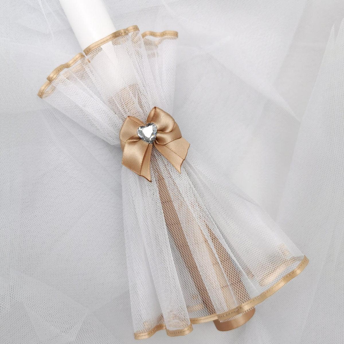 zlatna boja Diamond heart svijeće za krštenje