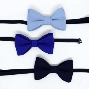 plave leptir mašne u tri boje