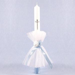 Blue sky plavo bijela svijeća za krštenje djece