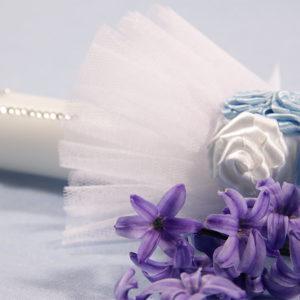 Blue sky svijeća za krštenje bijelo plava