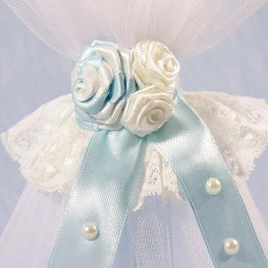 bijelo plavi ručno rađeni ukrasi svijeće Blue sky pearl