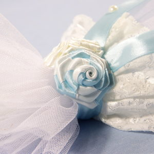 Blue sky pearl svijeća za krštenje bijelo plava