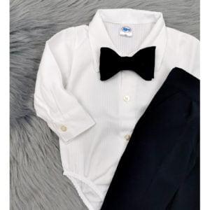 bodi košulja na bijele prugice dugi rukav