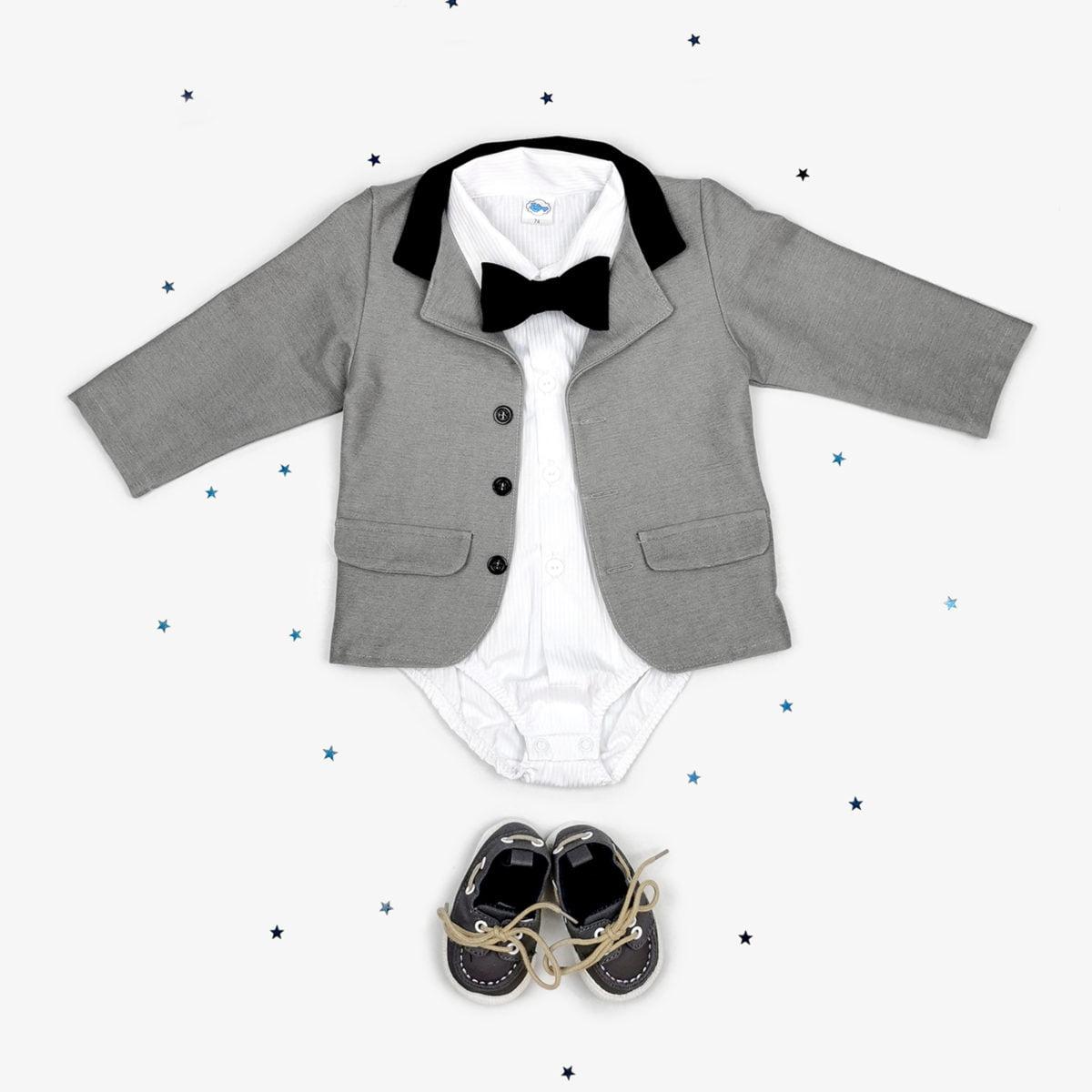 Sivi sako za male dječake