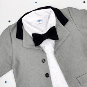 Sivi sako za bebe detalj