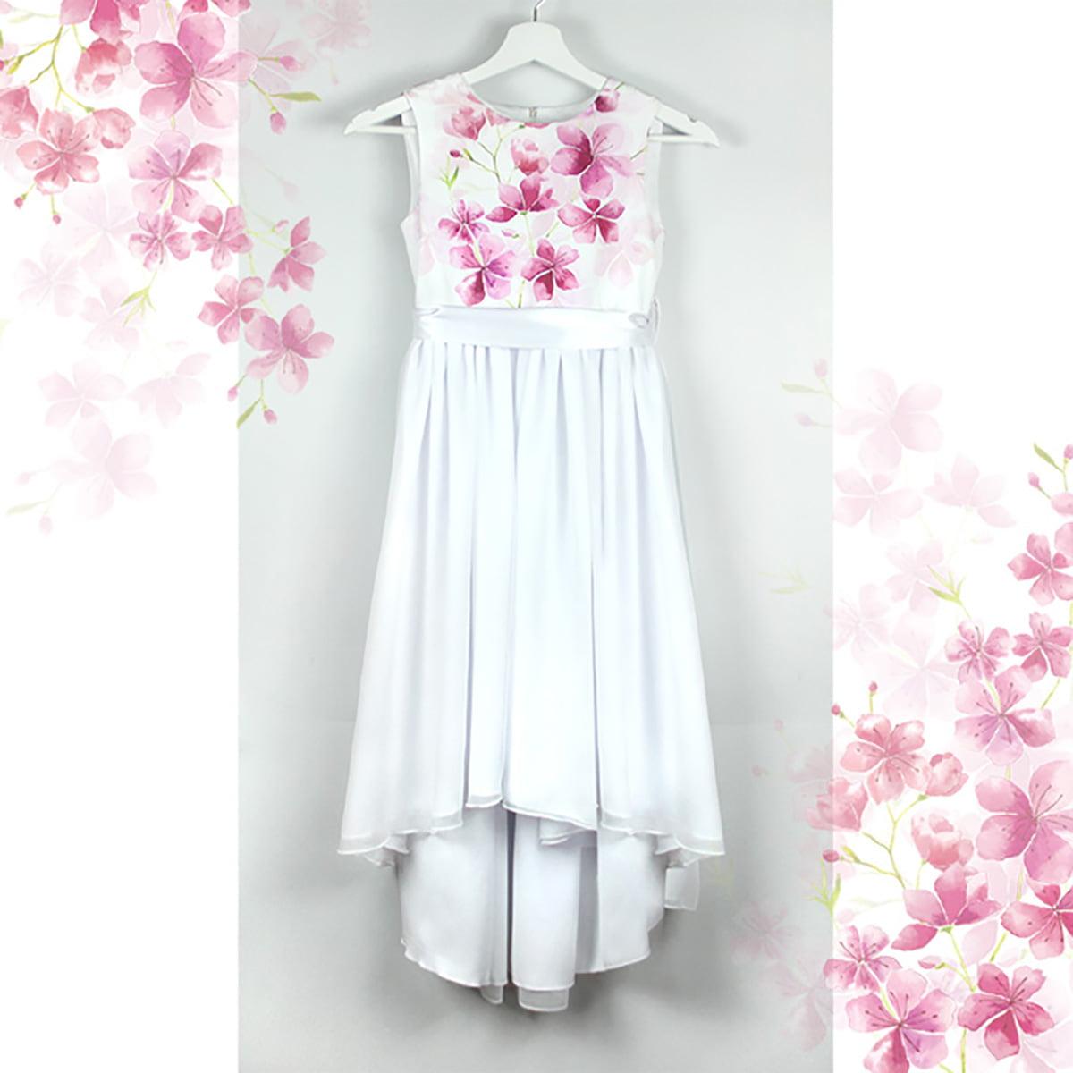 snježno bijela haljina s printom cvijeća