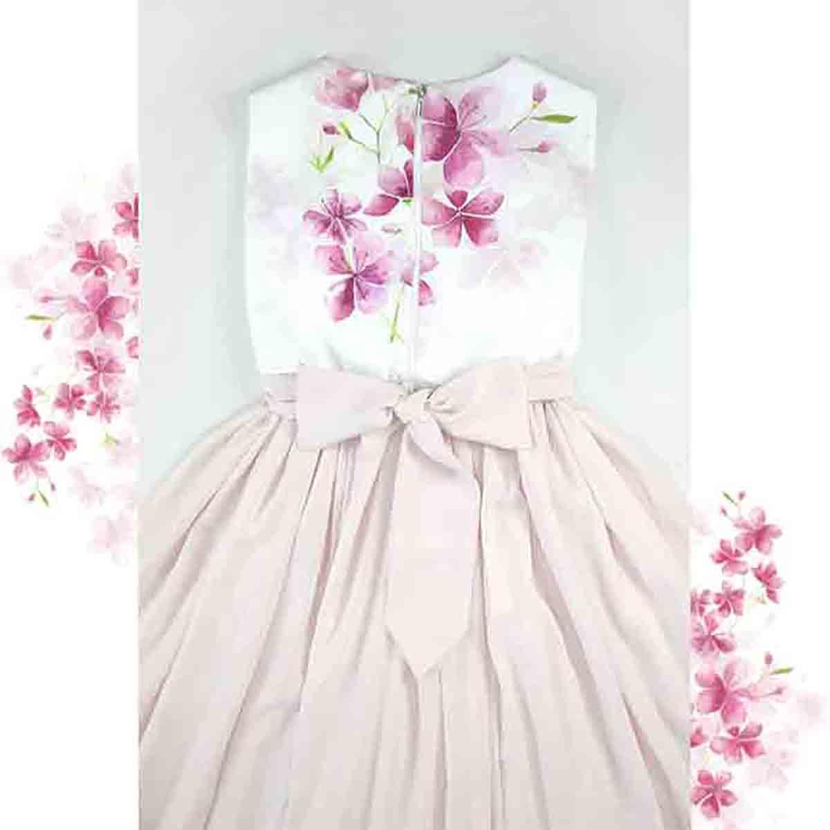 puder roza haljina cherry clossom