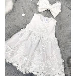 bijela chiara haljina za krštenje