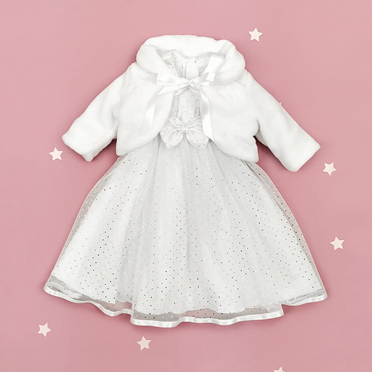 Chloe haljina za krštenje s bundicom