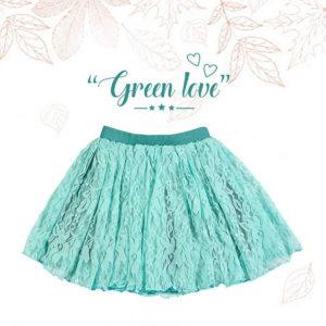 green love lepršava zelena suknja