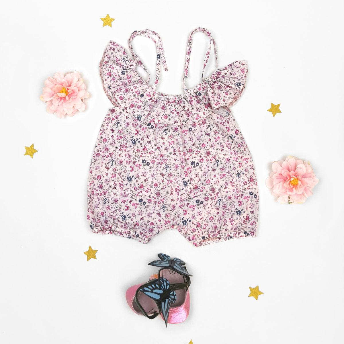 šareni daisy romper za male bebe