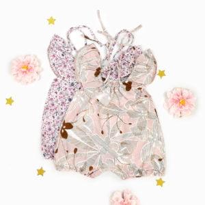 daisy romper za bebe u dva cvjetna uzorka