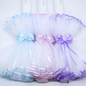 Diamond heart svijeće za krštenje u tri varijacije boja