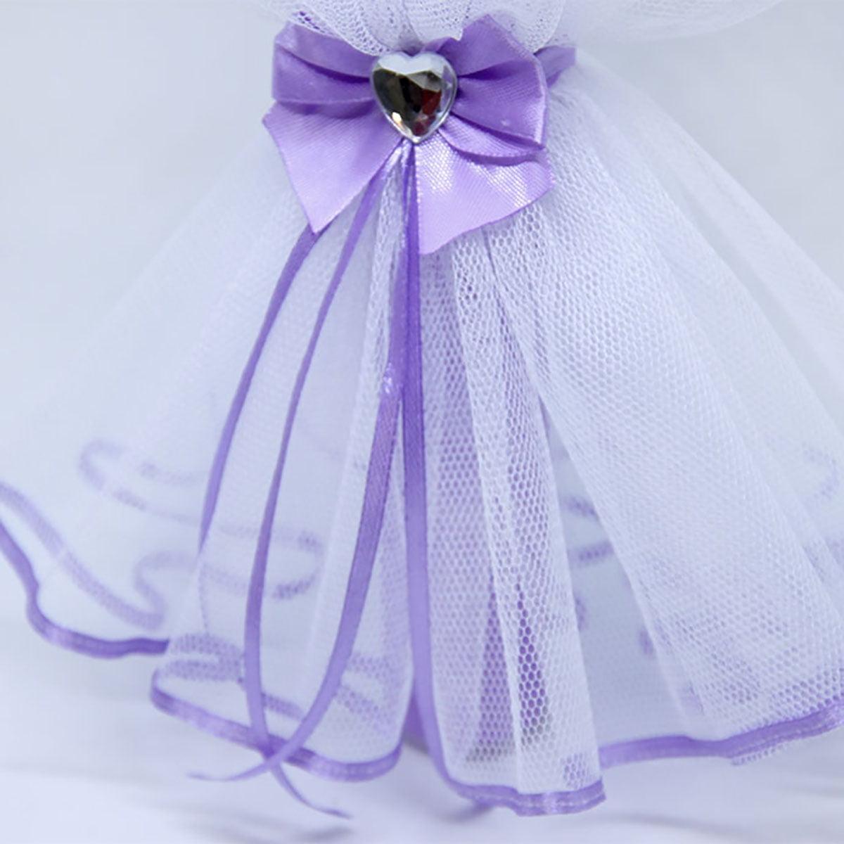 Diamond heart lily ljubičasti ukras svijeće za krštenje