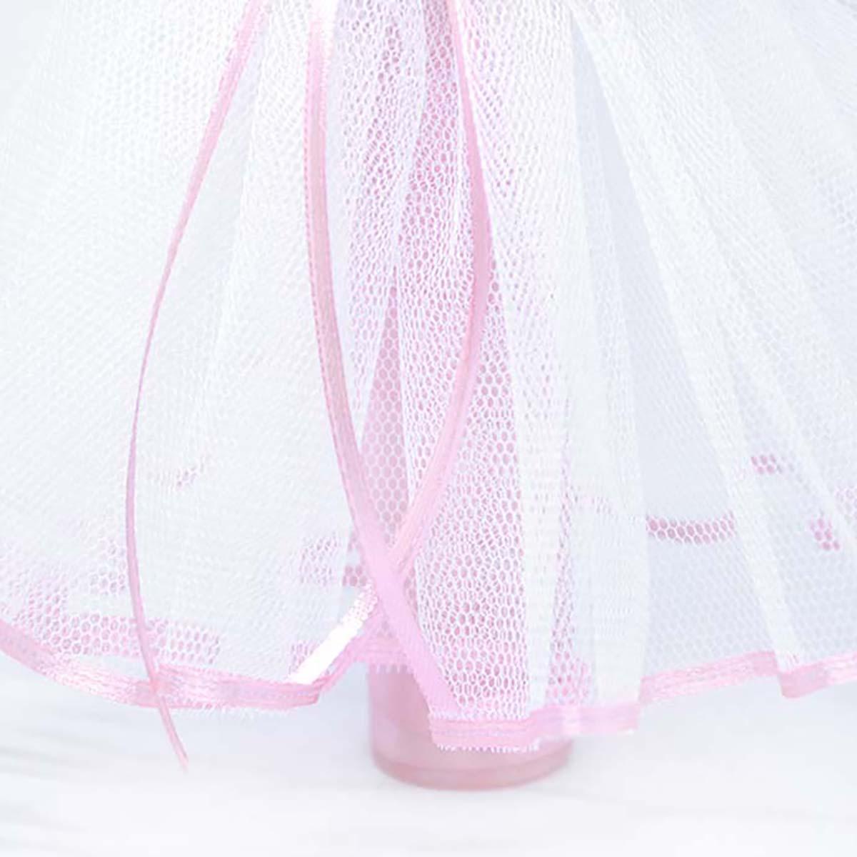 til suknjica bijelo roza na svijeći Diamond rose heart
