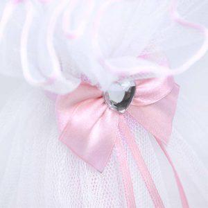 Rozi detalj ukras na svijeći Diamond rose heart