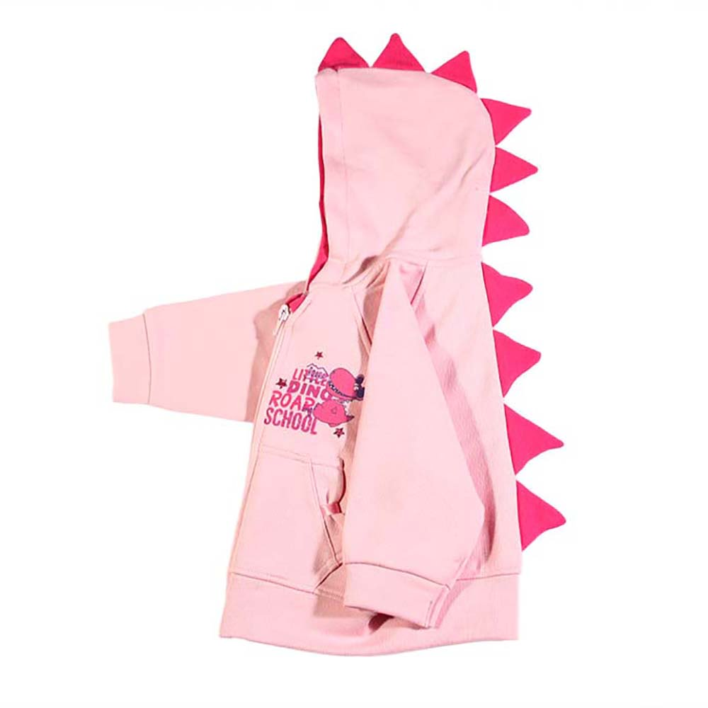 roza trenirka dino roar pink
