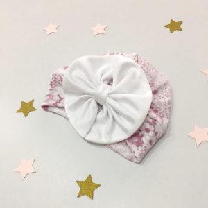 Velika mašna cvjetnog čipkanog turbana kapice za bebe