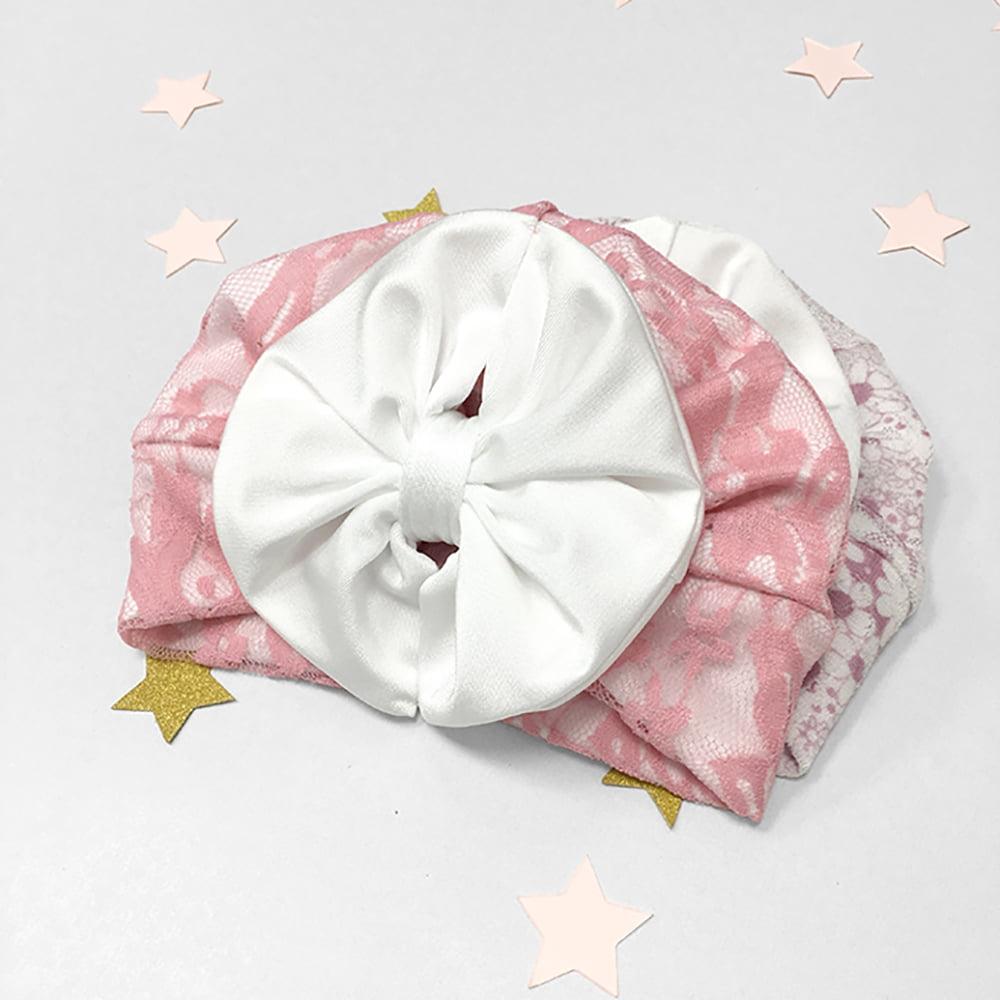 Roza diva kapica turban za novorođenčad i bebe