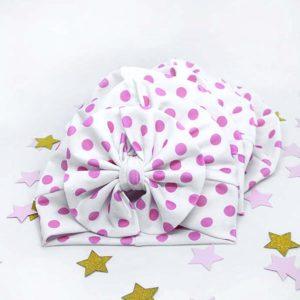 točkasti diva turban za novorođenče, bebe i djecu