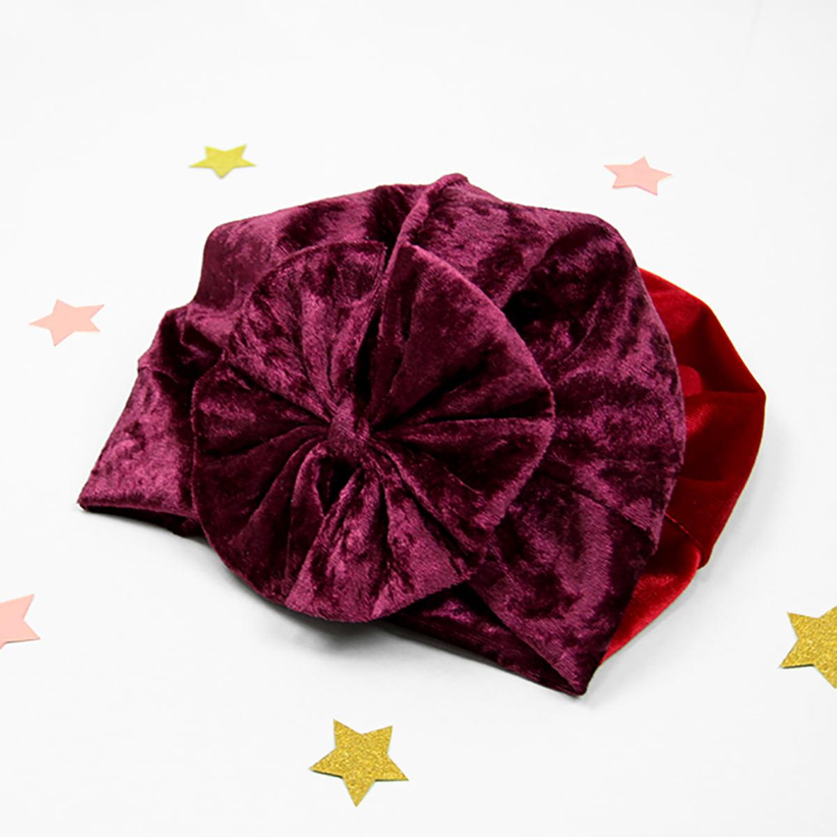 diva velvet turban u boji vina
