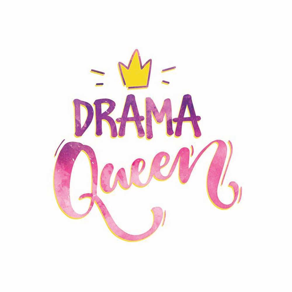Drama Queen ilustracija na tetra peleni za bebe