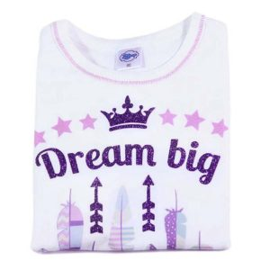 dream big majica s printom i glitterom