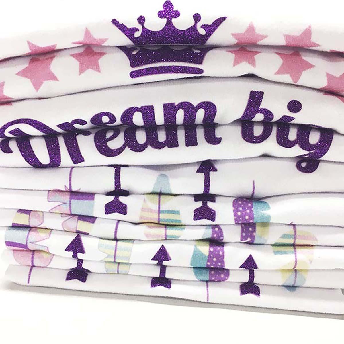 Dream big print kombinacija printa i glittera