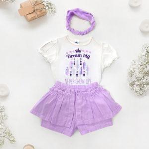 Sanjarim ljubičasti komplet za bebe i djevojčice