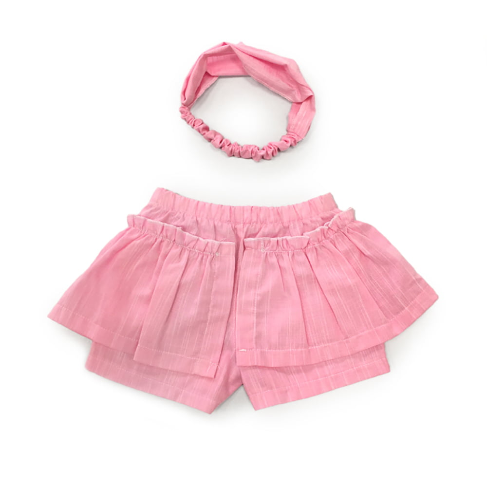 Sanjarim rozi komplet šos hlača i trakice