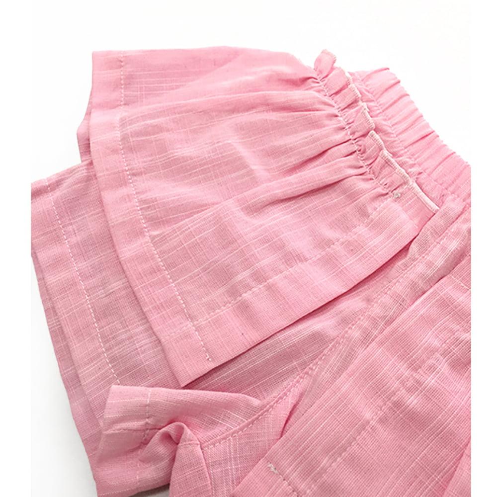 Lepršave roze šos hlače Sanjarim kompleta