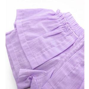 Lepršave ljubičaste šos hlače Sanjarim kompleta