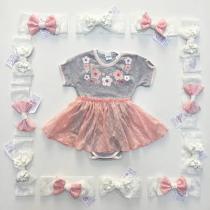 Floral divine rozi ljetni kompletić za bebe