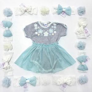 Floral divine mint ljetni kompletić za bebe