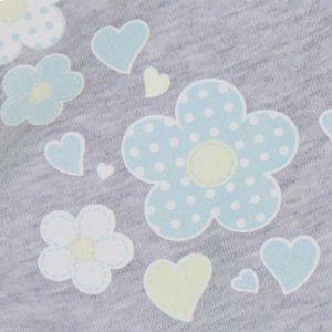 Cvjetni print mint zeleni Flora divine