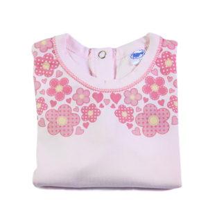 Floral kragnica print na majici za bebe