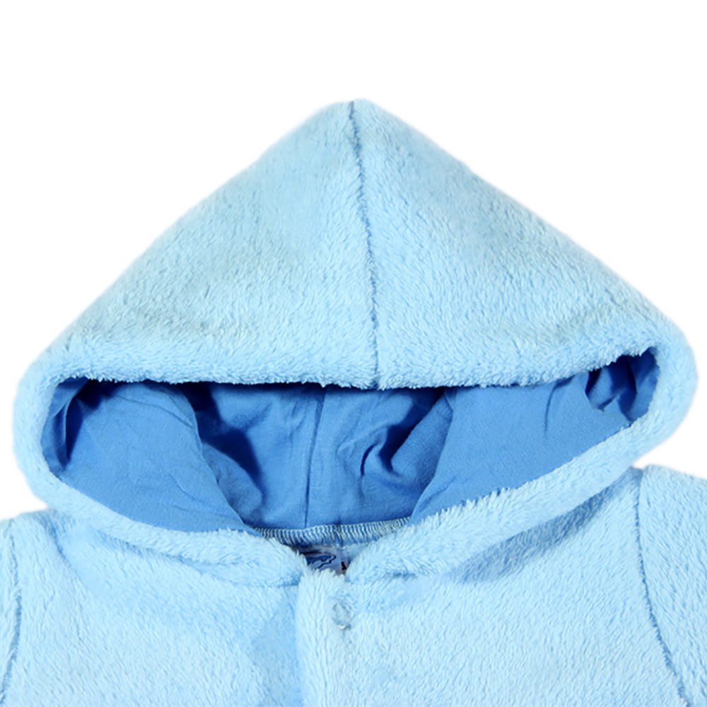 Podstavljena kapuljača plava za bebe