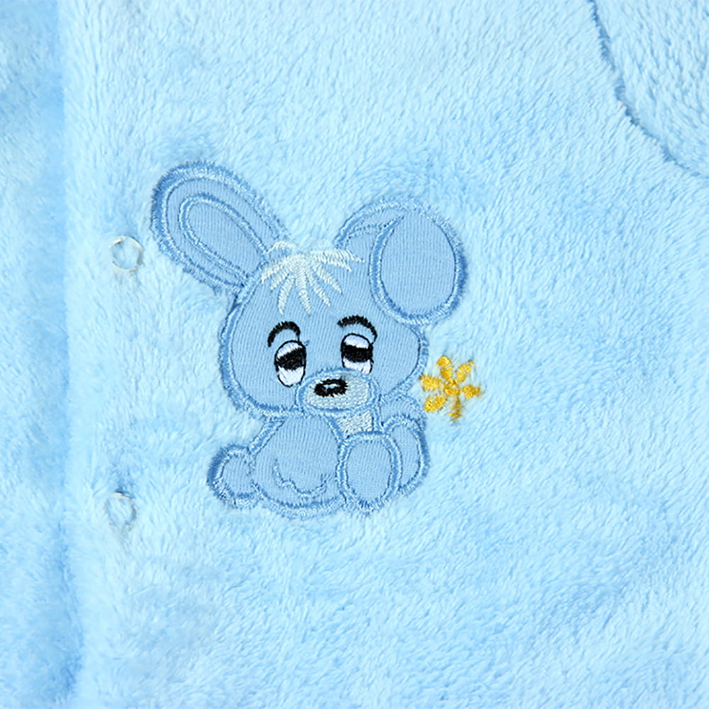 Plavi uspavani zeko ukras kombinezona za bebe