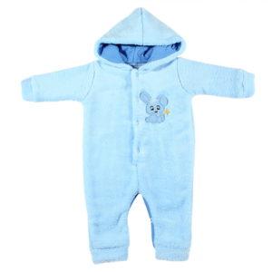 Plavi zimski kombinezon s kapuljačom za bebe